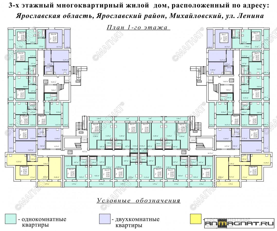 Продажа квартиры, 1 комната, ул. ленина, дом 4, 33 кв. м. пр.